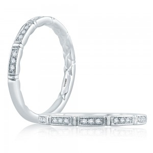 A.JAFFE Platinum Classic Diamond Wedding Ring MR2189Q