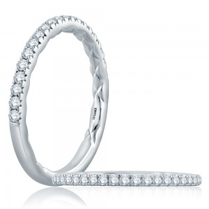 A.JAFFE Platinum Classic Diamond Wedding Ring MR2196Q