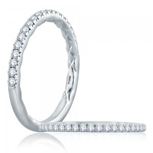 A.JAFFE Platinum Classic Diamond Wedding Ring MR2202Q