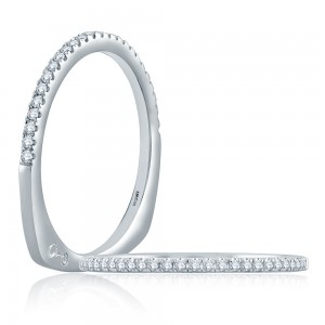 A.JAFFE Platinum Signature Diamond Wedding Ring MRS862