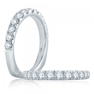 A.JAFFE Platinum Signature Diamond Wedding Ring MRS868