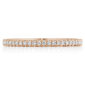 Tacori 14 Karat Coastal Crescent Wedding Band P104B34FPK