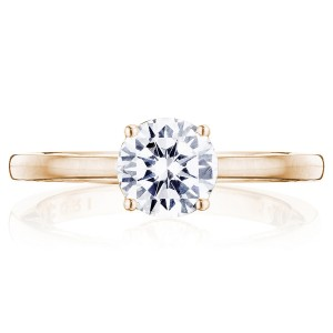 Tacori P100RD65FPK 14 Karat Coastal Crescent Engagement Ring