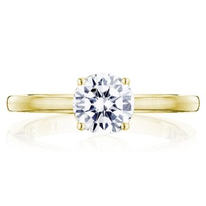 Tacori P100RD65FY 14 Karat Coastal Crescent Engagement Ring