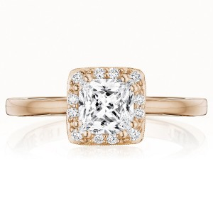 Tacori P101PR55FPK 14 Karat Coastal Crescent Engagement Ring