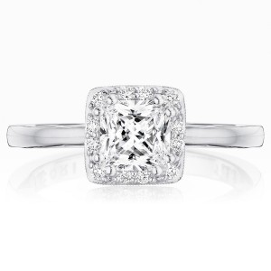 Tacori P101PR55FW 14 Karat Coastal Crescent Engagement Ring
