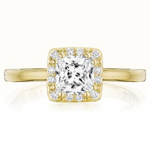 Tacori P101PR55FY 14 Karat Coastal Crescent Engagement Ring