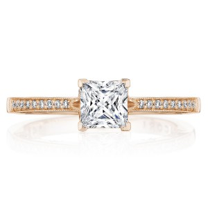 Tacori P102PR5FPK 14 Karat Coastal Crescent Engagement Ring