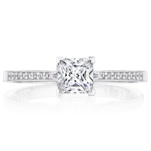 Tacori P102PR5FW 14 Karat Coastal Crescent Engagement Ring