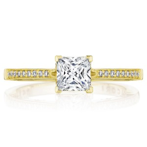 Tacori P102PR5FY 14 Karat Coastal Crescent Engagement Ring