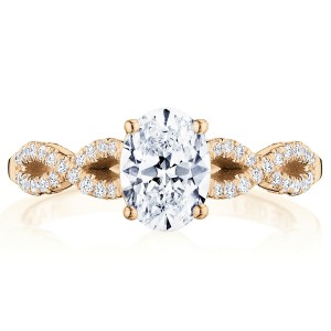 Tacori P105OV75X55FPK 14 Karat Coastal Crescent Engagement Ring