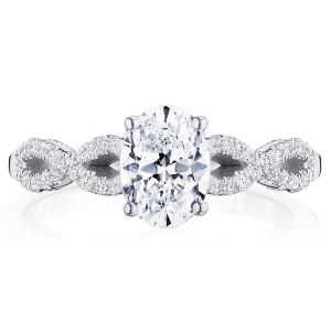 Tacori P105OV75X55FW 14 Karat Coastal Crescent Engagement Ring