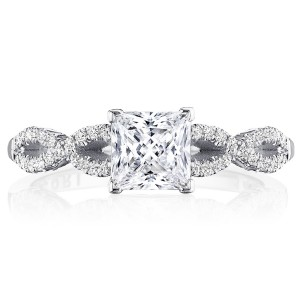 Tacori P105PR55FW 14 Karat Coastal Crescent Engagement Ring