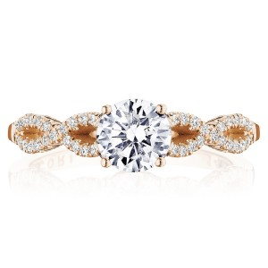 Tacori P105RD6FPK 14 Karat Coastal Crescent Engagement Ring