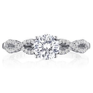 Tacori P105RD6FW 14 Karat Coastal Crescent Engagement Ring
