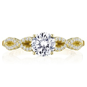 Tacori P105RD6FY 14 Karat Coastal Crescent Engagement Ring