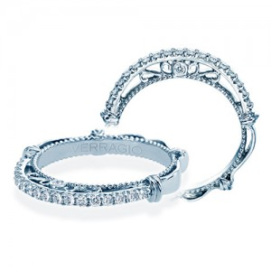 Verragio Parisian-122W Platinum Wedding Ring / Band