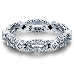 Verragio Parisian-W103P Platinum Diamond Eternity Ring / Band