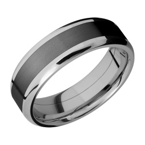 Lashbrook PF7B14(NS)/ZIRCONIUM Titanium Wedding Ring or Band