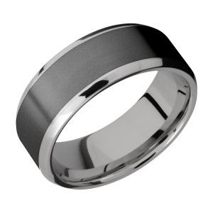 Lashbrook PF8B16(NS)/ZIRCONIUM Titanium Wedding Ring or Band
