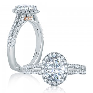 A.JAFFE 14 Karat Signature Engagement Ring MES873