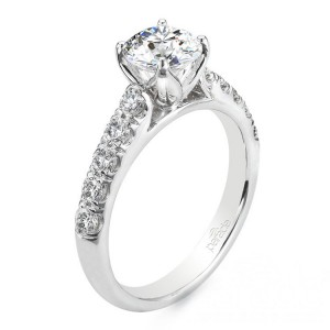 Parade New Classic R2748 14 Karat Diamond Engagement Ring