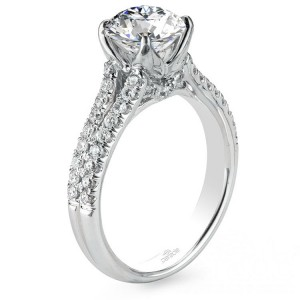 Parade New Classic R2834 Platinum Diamond Engagement Ring