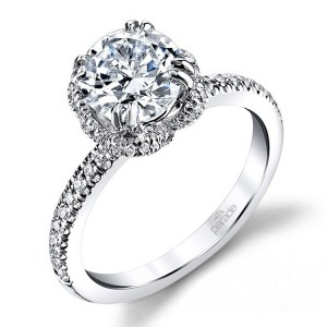 Parade New Classic R2865 14 Karat Diamond Engagement Ring
