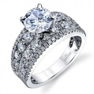 Parade Hemera Bridal Platinum Diamond Engagement Ring R3629