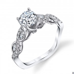 Parade Hemera Bridal Platinum Diamond Engagement Ring R3855B