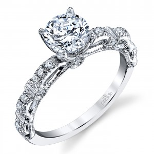 Parade Hemera Bridal Platinum Diamond Engagement Ring R3877