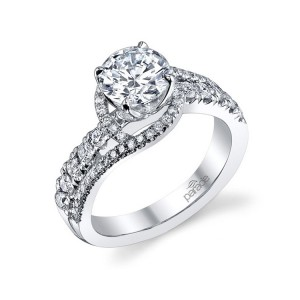 Parade Hemera Bridal R3149 Platinum Diamond Engagement Ring