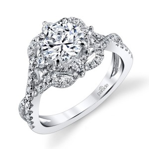 Parade Hemera Bridal R3202 Platinum Diamond Engagement Ring