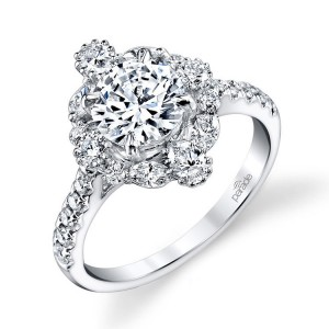 Parade Hemera Bridal R3205 Platinum Diamond Engagement Ring