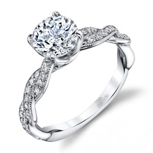 Parade Hemera Bridal R3568B 14 Karat Diamond Engagement Ring