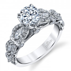 Parade Hemera Bridal R3908 Platinum Diamond Engagement Ring
