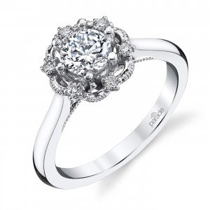 Parade Hera Bridal Platinum Diamond Engagement Ring R3933