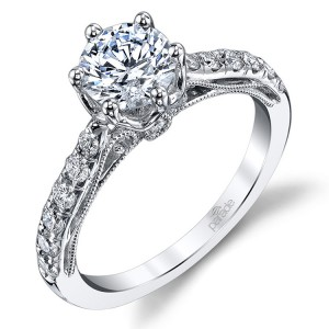 Parade Hera Bridal R3668 14 Karat Diamond Engagement Ring