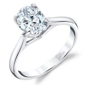 Parade New Classic Bridal R3671-O1 Platinum Diamond Engagement Ring