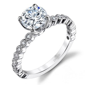 Parade New Classic Platinum Diamond Engagement Ring R3726