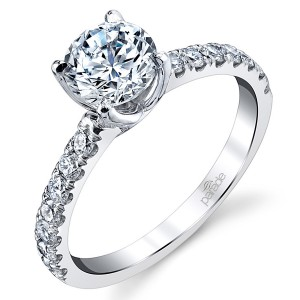 Parade New Classic Platinum Diamond Engagement Ring R3812