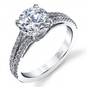 Parade New Classic Platinum Diamond Engagement Ring R3865