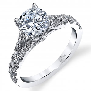 Parade New Classic Platinum Diamond Engagement Ring R3915