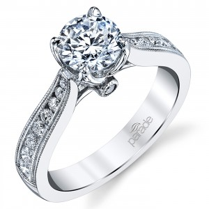 Parade New Classic Platinum Diamond Engagement Ring R3932