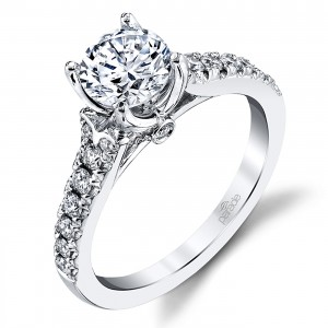 Parade New Classic Platinum Diamond Engagement Ring R3935