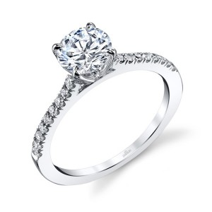 Parade New Classic R3268 14 Karat Diamond Engagement Ring
