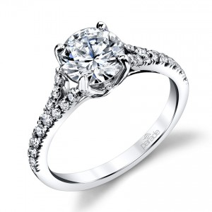 Parade New Classic R3311 Platinum Diamond Engagement Ring
