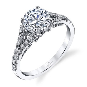 Parade New Classic R3322 Platinum Diamond Engagement Ring