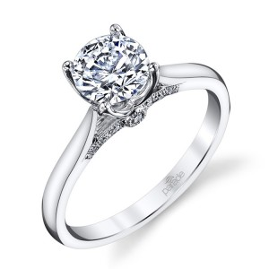 Parade New Classic R3473 Platinum Diamond Engagement Ring