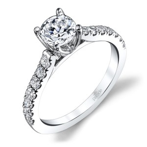 Parade New Classic R3667 14 Karat Diamond Engagement Ring